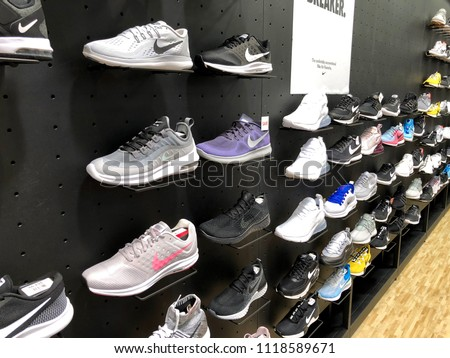 7f48fa6f0df Shoe section in Dick s Sporting Goods Jacksonville Florida USA. June 20