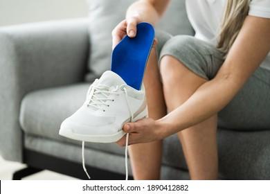 Shoe Sole In Footwear For Healthy Foot Arch
