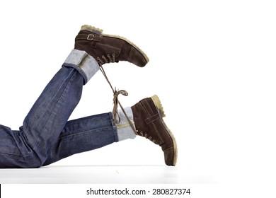 Shoelace prank