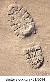 Shoeprint in the sand