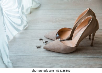 Shoes and accessories of the bride