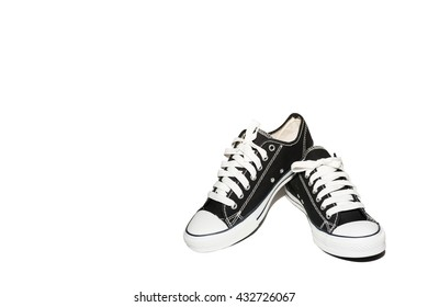 shoes black and white isolated on white background