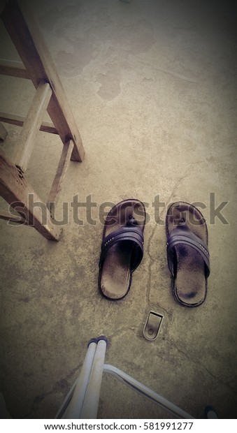 Shoes and chairs.