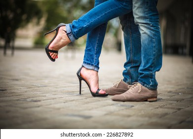 Shoes. Couple. Couple in love. passion.