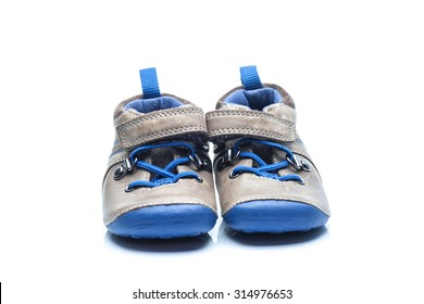 Shoes for kids isolated on white background
