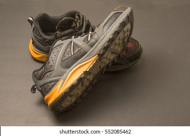 Shoes make of rubber and cloth/Running Sneakers/Footwear used for athletic and recreational use