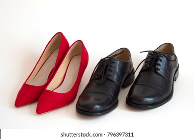 shoes of a man and of a woman
