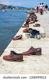 Shoes is a memorial at the Danube to the victims of the Holocaust, Budapest.