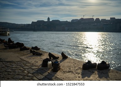 Shoes on the Danube These shoes are memorial monuments and are of public property and therefore are not copyrighted.