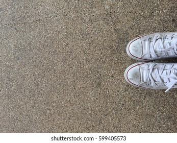 Shoes on ground