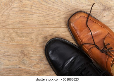 Shoes on a rustic wooden floor