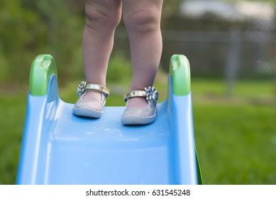 shoes on slide