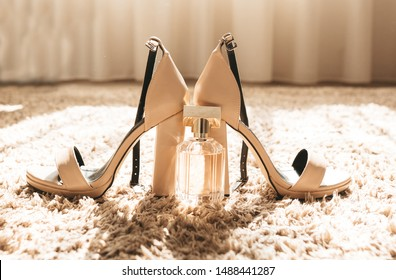 Shoes and perfume of the bride