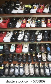 Shoes for sale at a shop in Tokyo, Japan