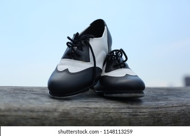 Shoes of a tap dancer