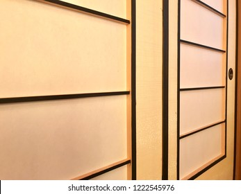 Shoji door, Japanese architecture for door or window for room divider consisting of translucent paper over a frame of wood