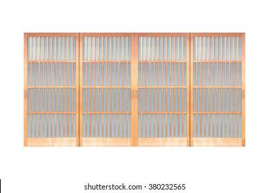 Shoji , Japanese slide open door , window or room divider
