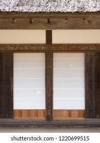 Shoji screen of old Japanese private houses