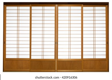 Shoji , Traditional Japanese door,window or room divider consisting