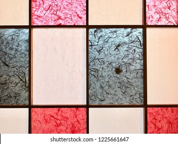 Shoji window, Japanese architecture for door or window for room divider consisting of translucent paper over a frame of wood