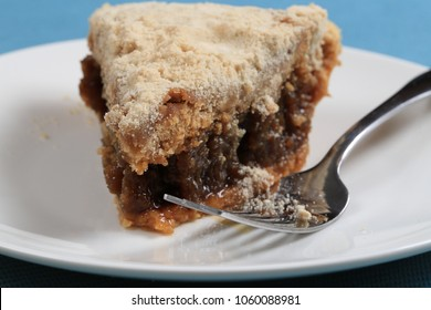 Shoofly Pie is a Pennsylvania Dutch dessert made of molasses with a wet, sticky and gooey bottom.