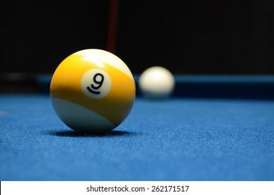 Shooting at the 9 ball