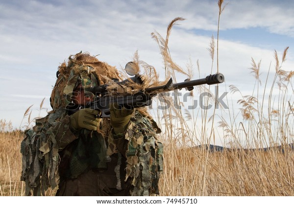 shooting camouflage sniper