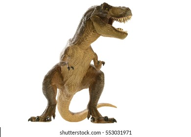 shooting dinosaur on white background
