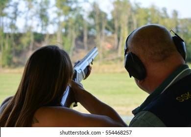 Shooting, gun, man