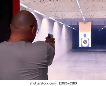 Shooting gun at the Range