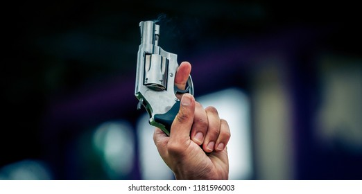 Shooting guns release the runner.