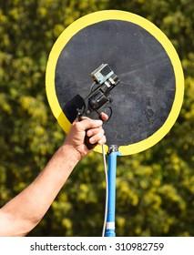 Shooting with a starting gun