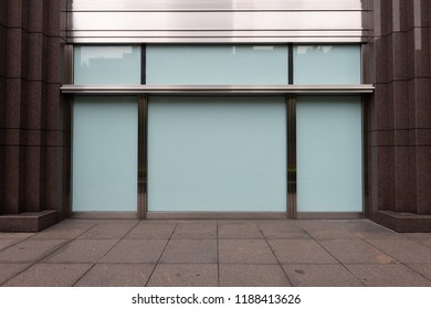 Shop Boutique Store Front with Big Window and Place for Name