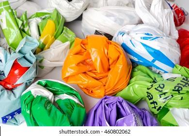 Shop carrier bags.