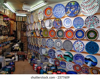 A shop in the Grand Bazaar from Istanbul (Turkey)