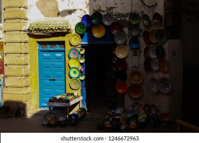 shop in morocco selling plates