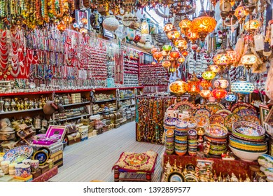 Shop in Muttrah souq in Muscat, Oman