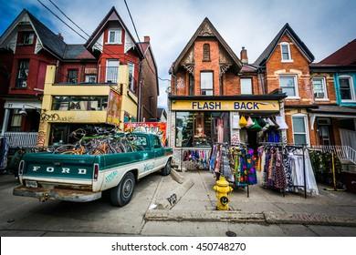 Shop on Kensington Avenue at Kensington Market, in Toronto, Ontario.