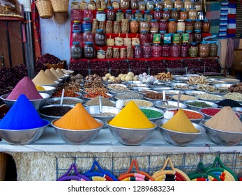 A shop selling cereals and spices. Nubia, Aswan, southern Egypt
