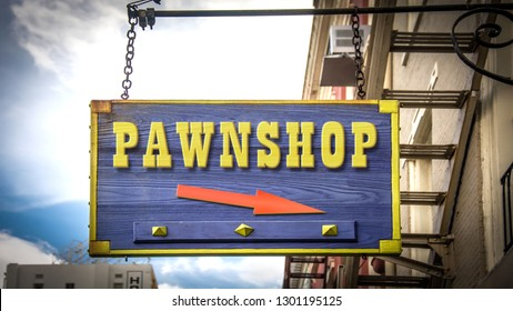 Shop Sign to Pawnshop