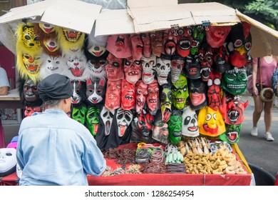 a shop at the street in Sukhumvit in the city of Bangkok in Thailand in Southeastasia.  Thailand, Bangkok, November, 2018