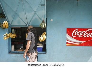 a shop in the town of chuao near choroni on the caribbean coast in Venezuela.   Venezuela, Choroni, November, 2005