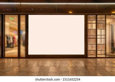 Shop window advertising light box in large shopping malls