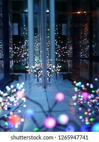 Shop window christmas light decoration