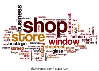 Shop word cloud concept