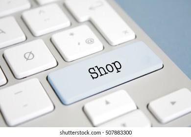 Shop written on a keyboard