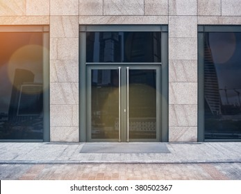 Shopfront with large windows with lens flare bokeh effect