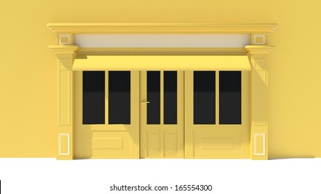 Shopfront in the sun - classic yellow store front