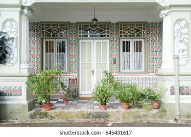 Shophouse Front  in Singapore.
