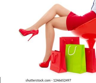 Shopoholic concept on white